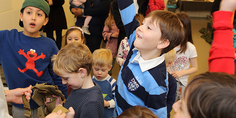 Children attending an activity workshop