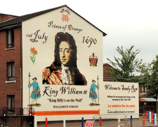 A mural in Belfast depicting King William III, 2012