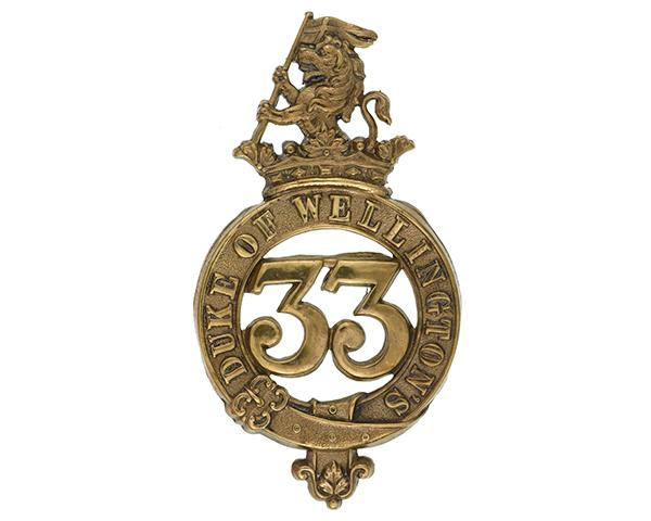 Other ranks' glengarry badge, 33rd (The Duke of Wellington's) Regiment, c1874