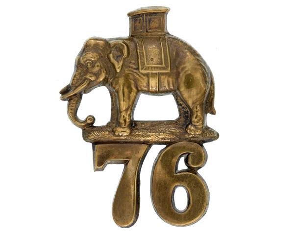 Glengarry badge, 76th Regiment of Foot, c1874