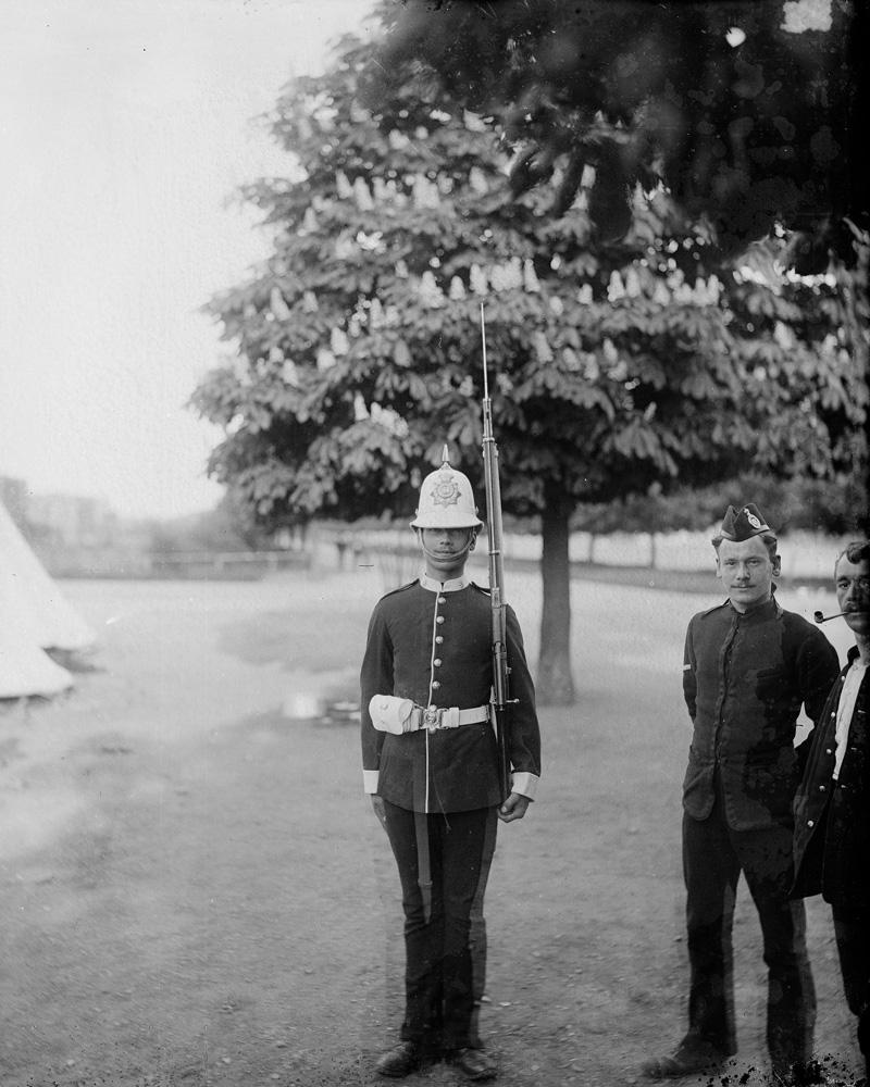 Corporal and Private, 1st Battalion The Devonshire Regiment, c1895