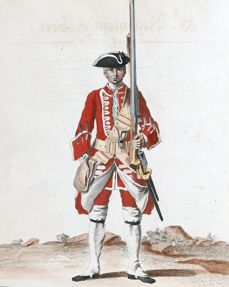 A soldier of the 33rd Regiment of Foot, c1742