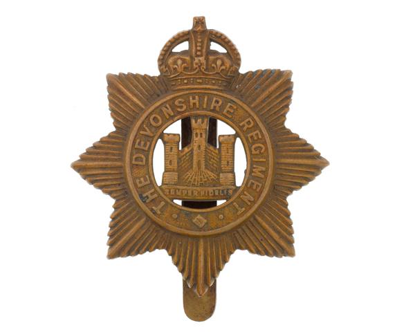 Cap badge, The Devonshire Regiment, c1917