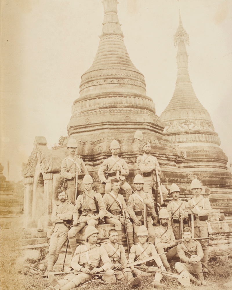 Officers and non-commissioned officers of the 2nd Devonshire Regiment, Wuutho, Burma, 1891