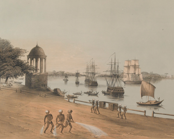 Shipping on the River Hoogly, Calcutta, c1857
