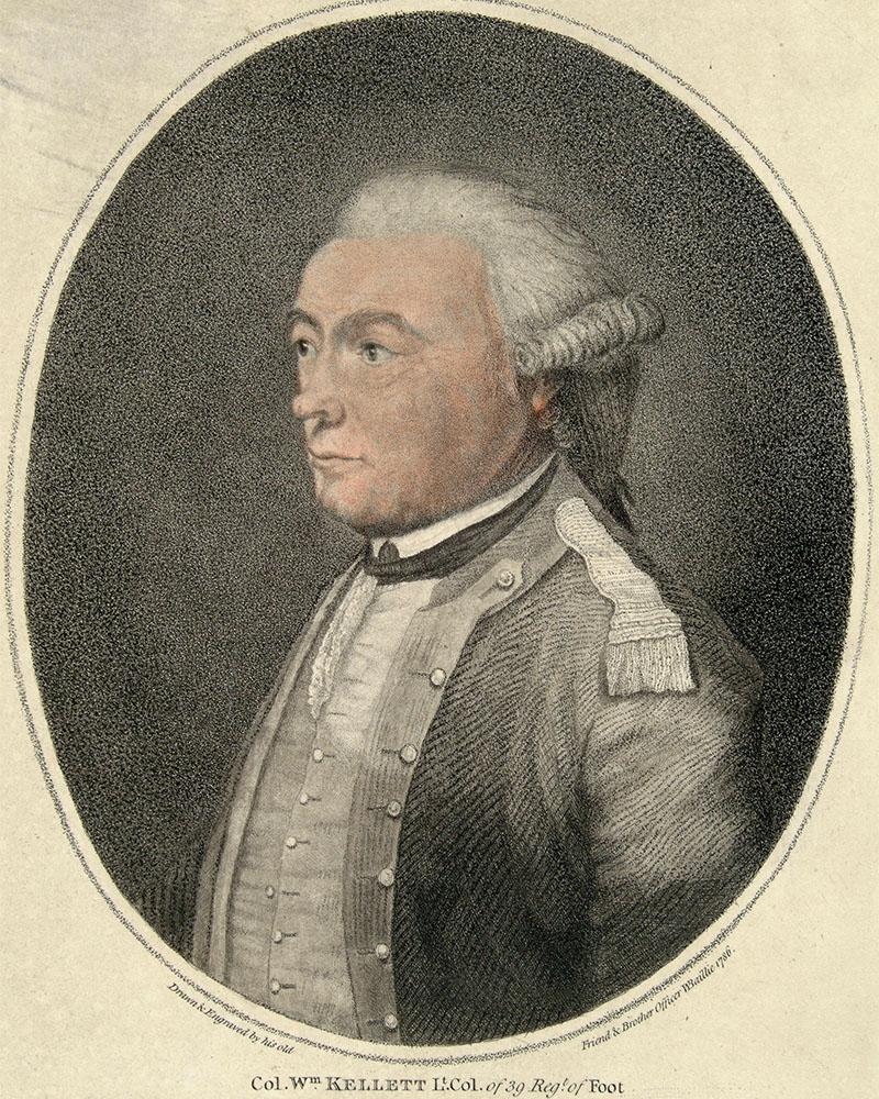 Colonel William Kellett of the 39th Regiment of Foot, c1786