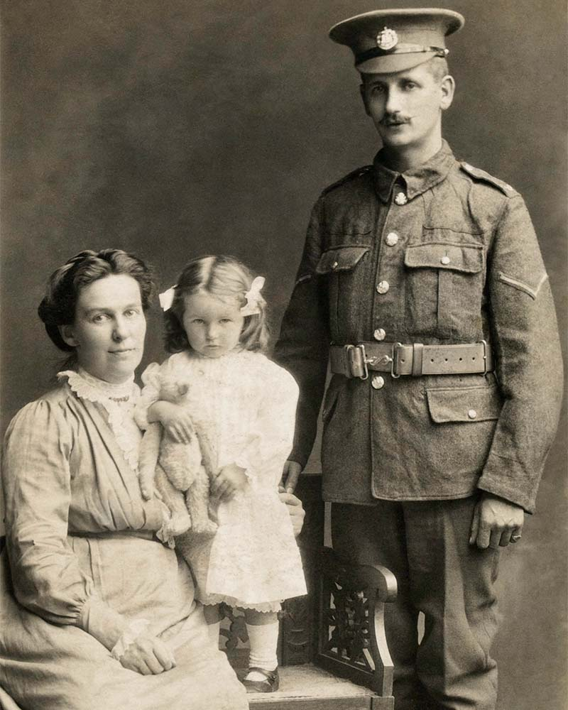 Lance-Corporal Alfred John Wilce with his family, 1916