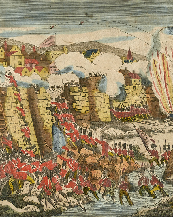 A view of the storming and taking of Cuidad Rodrigo, 1812
