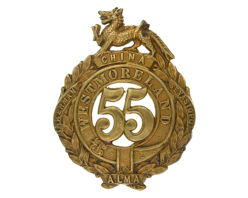 Other ranks' glengarry badge, 55th (Westmorland) Regiment, 1874-1881