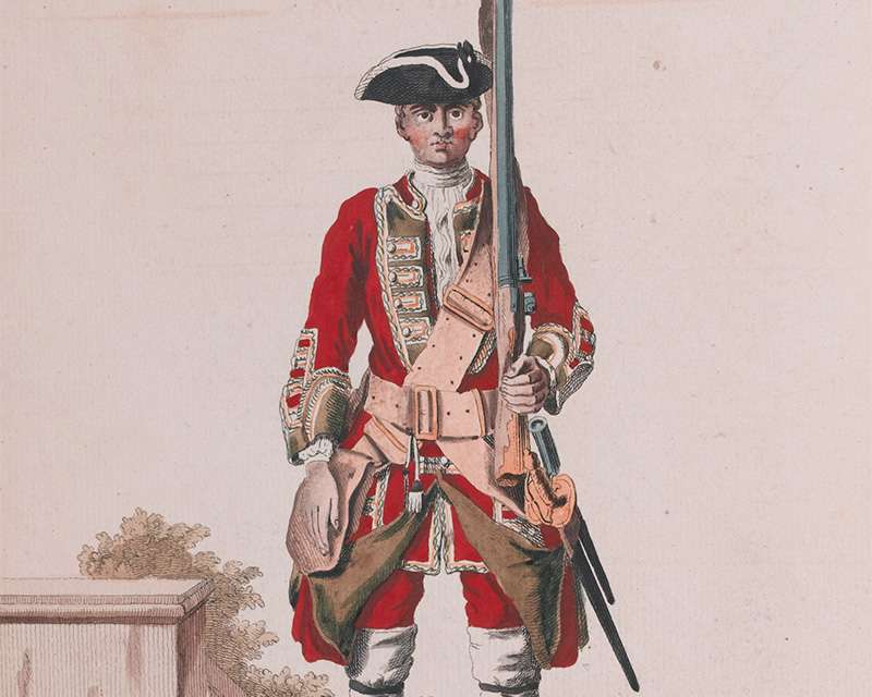 Soldier of the 19th Regiment of Foot, 1742