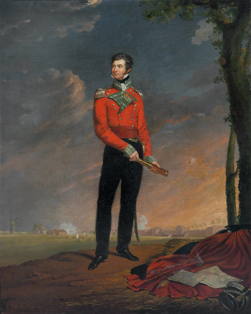 Major Sir Neil Campbell in the uniform of the 54th (West Norfolk) Regiment of Foot, c1815