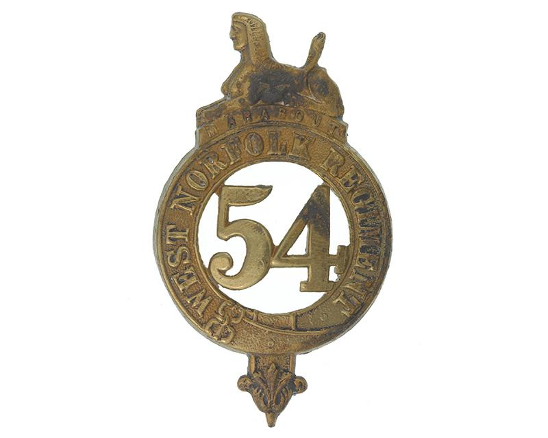 Glengarry badge, 54th (West Norfolk) Regiment, c1874