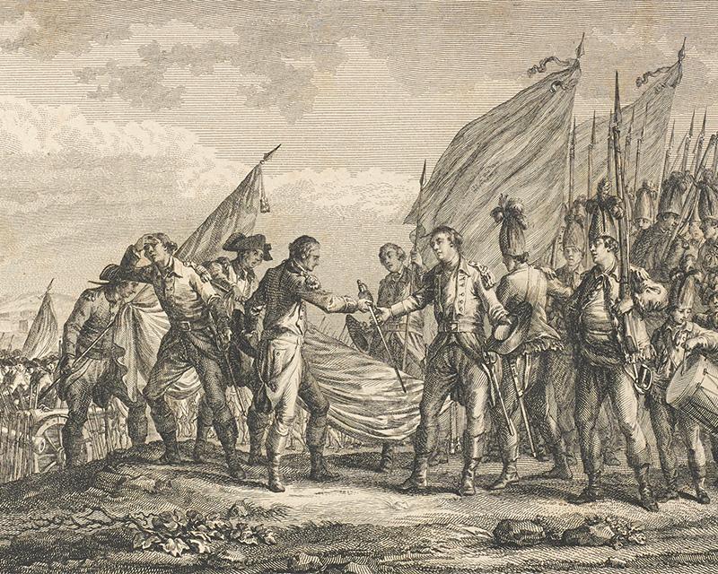 The surrender of General Burgoyne at Saratoga, 1777