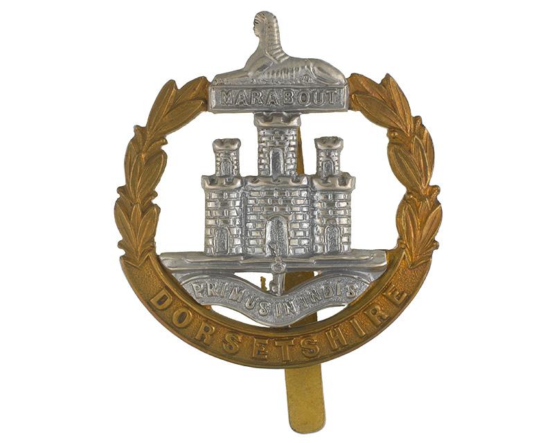 Cap badge, Dorsetshire Regiment, 1914