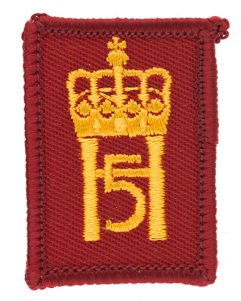 King Harald's Company, Green Howards patch, c2006