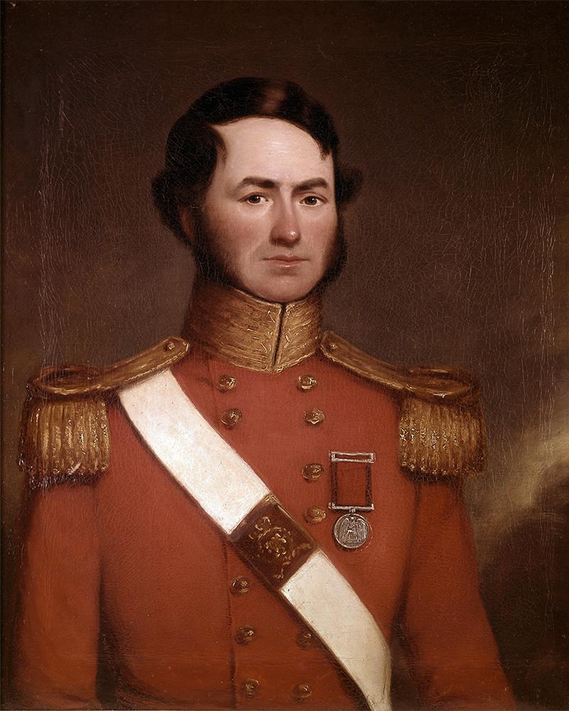 John Reid, a lieutenant with the 54th Foot, wearing his Waterloo Medal, c1835