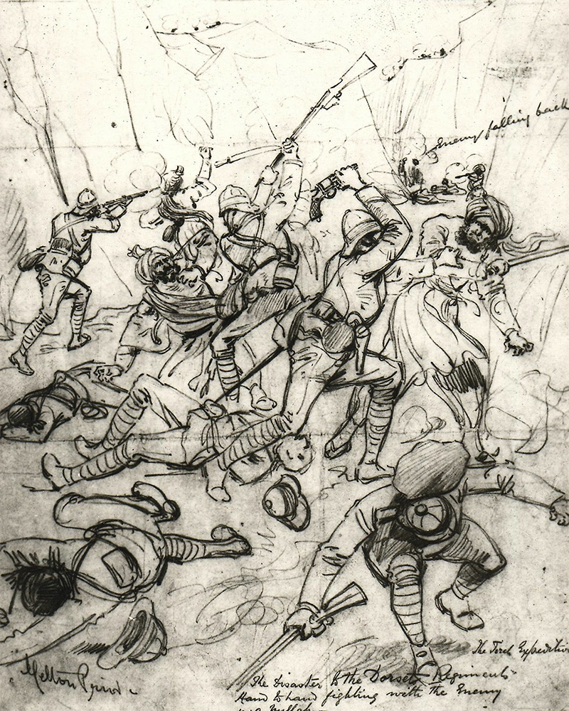 'The Disaster of the Dorset Regiment', Tirah Campaign, 1897