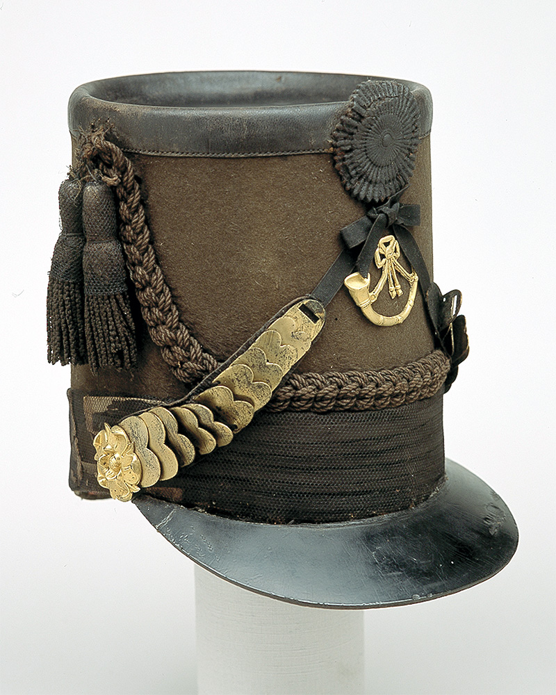 Officer's shako, 43rd (Monmouthshire) Regiment of Foot (Light Infantry), c1815