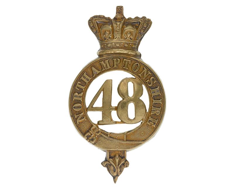 Glengarry badge, other ranks, 48th (Northamptonshire) Regiment of Foot, c1874