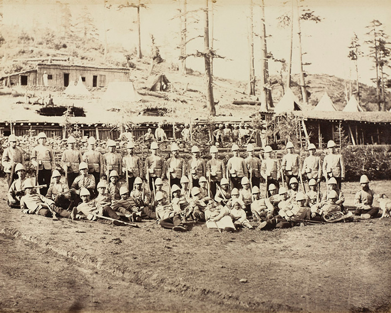 Men of the 8th (The King's) Regiment of Foot, 1878