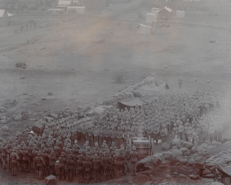 Church parade of The King's (Liverpool) Regiment, South Africa, c1900