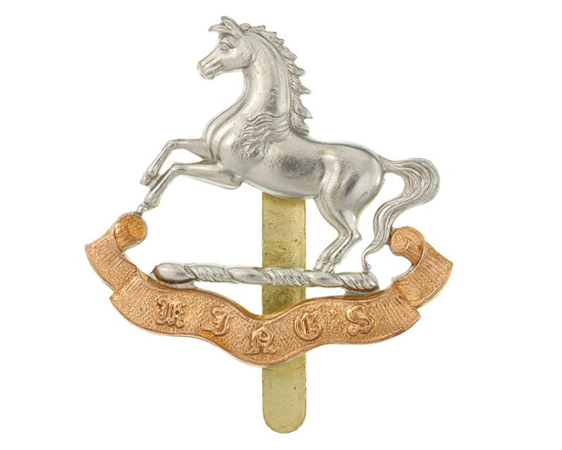 Cap badge, other ranks, The King's Regiment (Liverpool), c1927