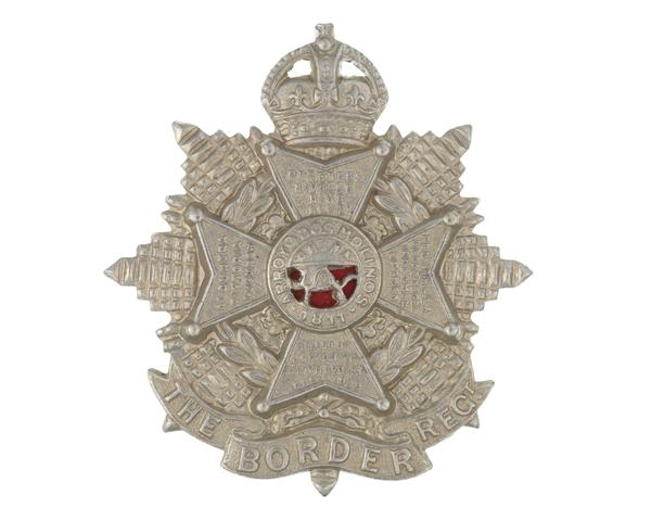Other ranks' cap badge, The Border Regiment, c1905