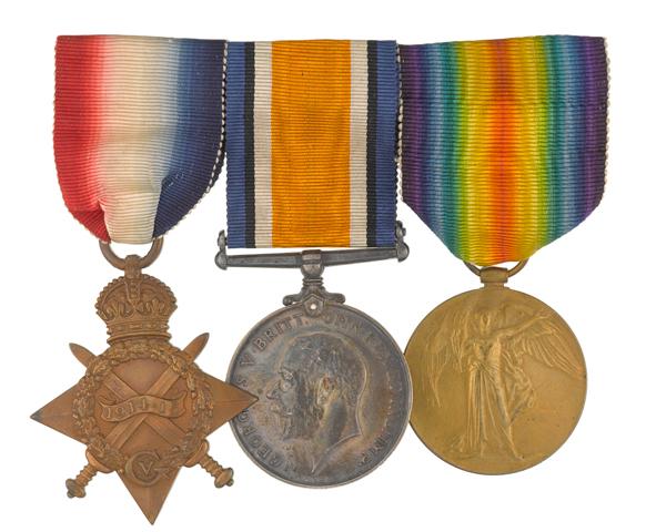 First World War medals  Sergeant Frederick Bowman, The Border Regiment, c1918