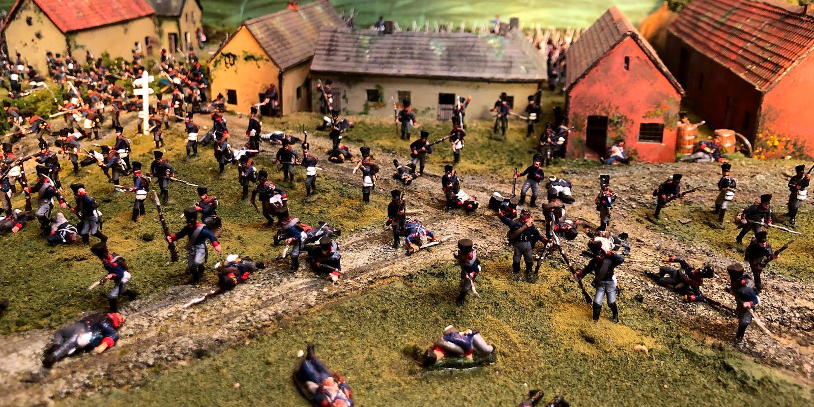 A section of Major General Cowan's Waterloo diorama