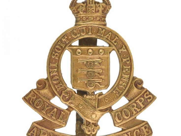 Other ranks' cap badge, Royal Army Ordnance Corps, c1918