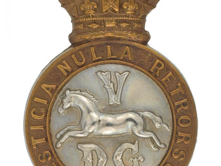 Other ranks' cap badge, 5th Dragoon Guards, c1900
