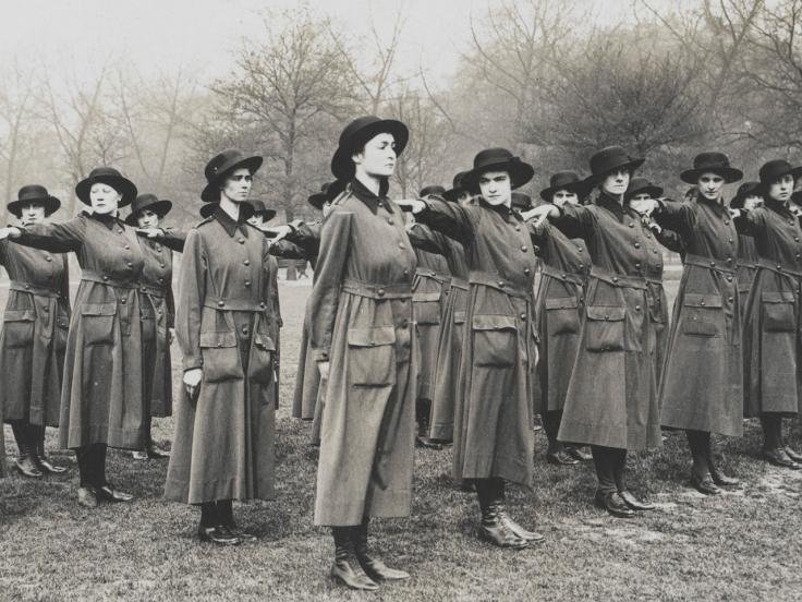 WAACs on parade, c1917