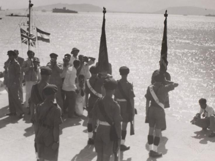 The last British troops to leave India, 1948
