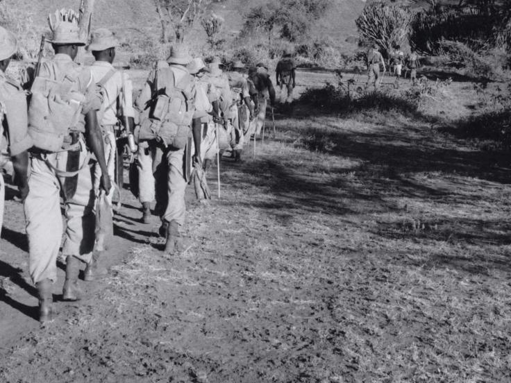 On patrol during the Kenya Emergency, c1955