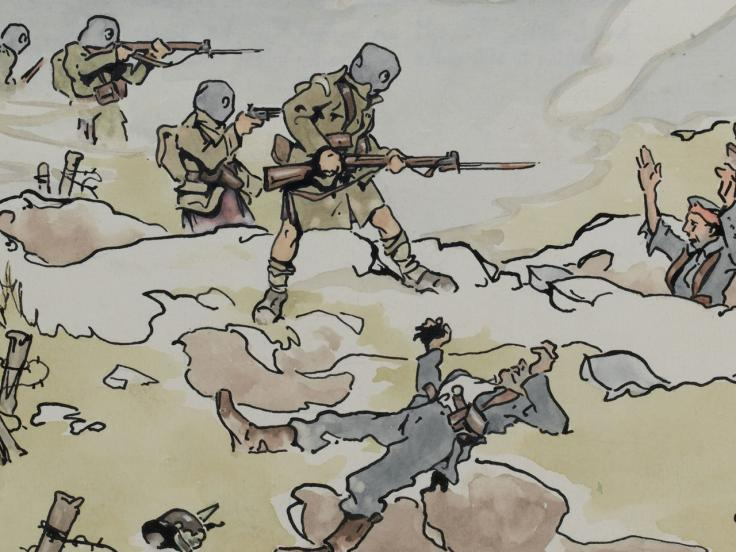 The Cameron Highlanders at Loos, 1915