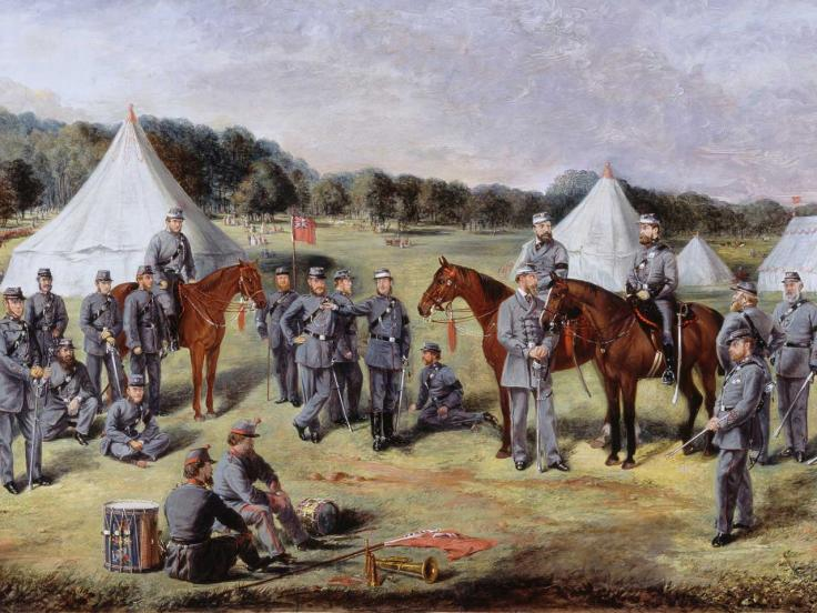 The Norfolk Volunteers at Gunton Park, 1864