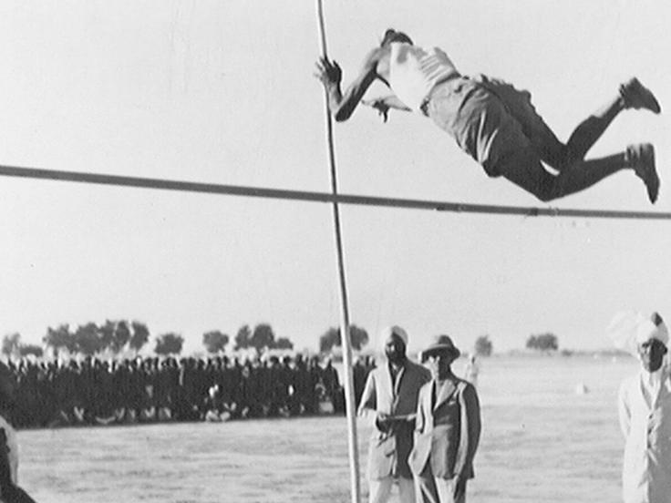 Pole-vaulting at the 14th Punjab Regiment's Sports Day, 1937