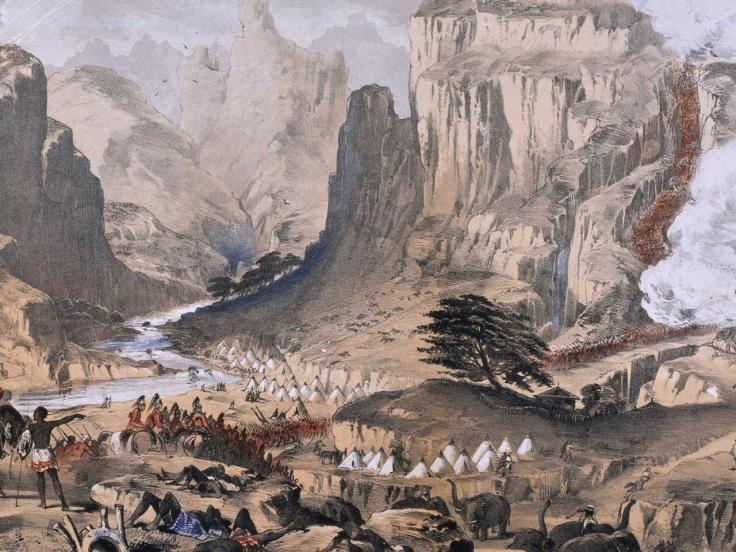 The storming of Magdala, 1868