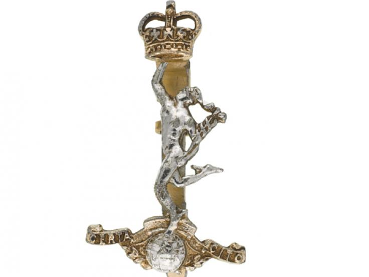 Other ranks' cap badge, Royal Corps of Signals, c1970