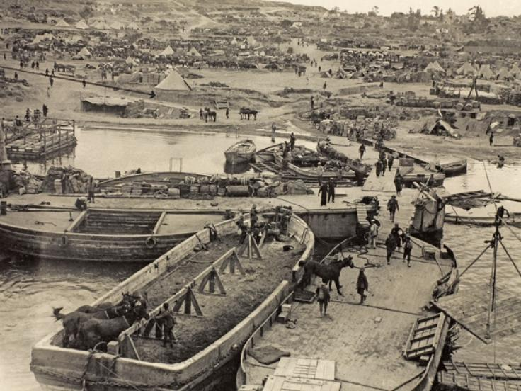 V Beach at Cape Helles, April 1915