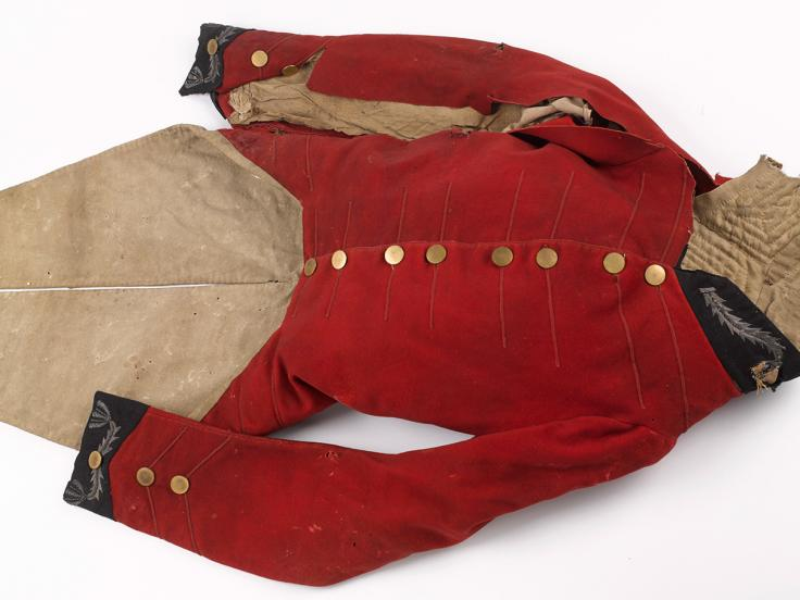 Coatee worn at Waterloo by Brigade-Major Thomas Noel Harris, 1815