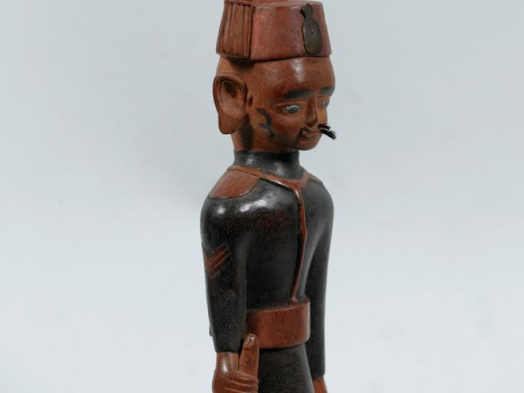 Carved figure of a sergeant of the King's African Rifles, 1917