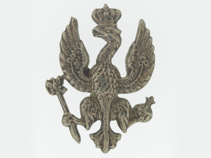 Collar badge, 14th (King's) Hussars, c1900