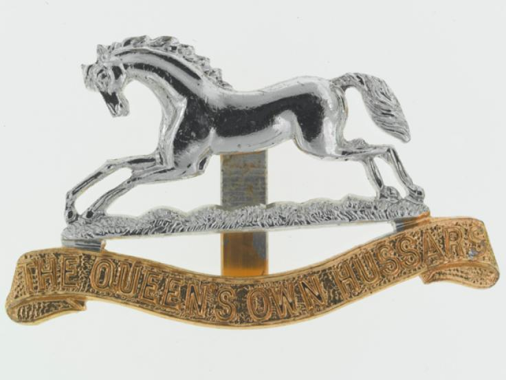 Other ranks' cap badge, The Queen's Own Hussars, c1960