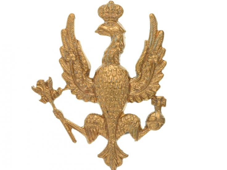 Cap badge, 14th/20th King's Hussars, 1932