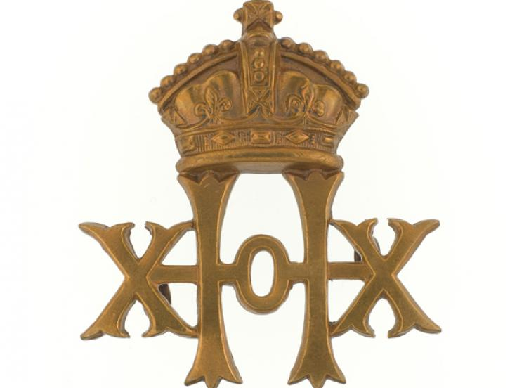 Cap badge, 20th Hussars, c1902