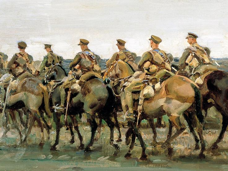 Lord Strathcona's Horse on the march, 1918