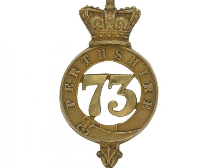 Glengarry badge, 73rd (Perthshire) Regiment of Foot, c1874