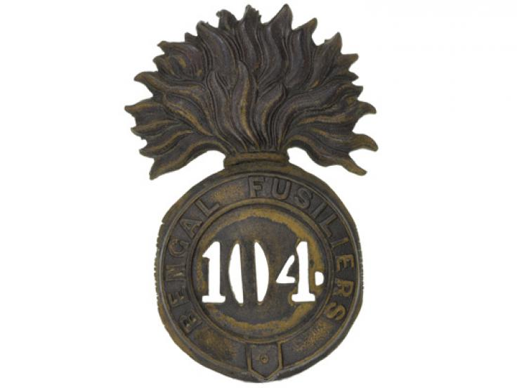 Glengarry badge, 104th Regiment of Foot (Bengal Fusiliers), c1874