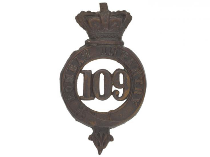 Glengarry badge, 109th Regiment of Foot (Bombay Infantry), c1874